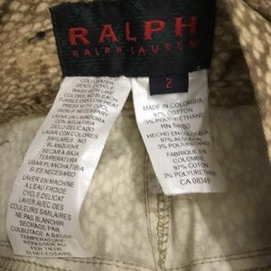 Ralph Lauren Pants - VINTAGE RALPH  RALPH LAUREN SNAKE SKIN PRINT PANTS